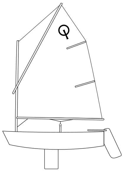 420px Optimist dinghy svg
